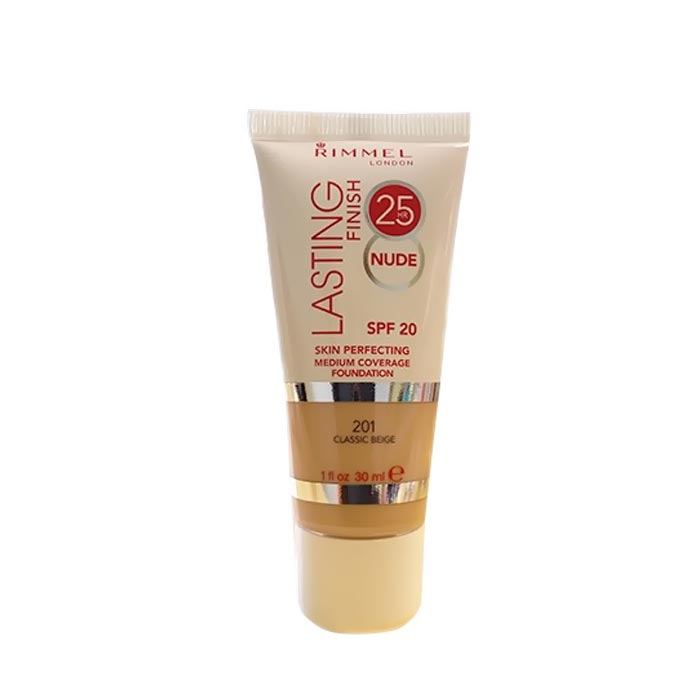 Rimmel Lasting Finish 25h Nude Foundation 201 Classic Beige 30ml