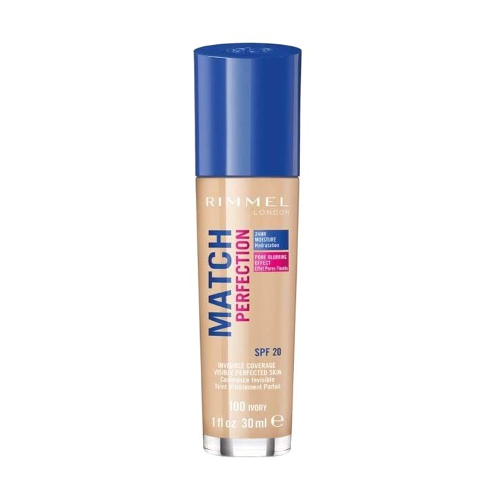 Rimmel Match Perfection Foundation SPF18 Shade 100 Ivory 30ml