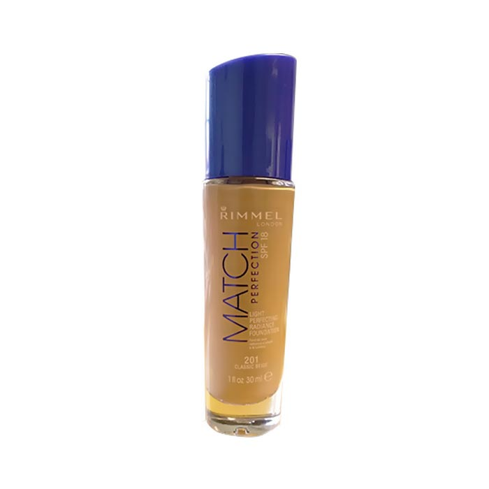 Rimmel Match Perfection Foundation SPF18 Shade 201 Classic Beige 30ml