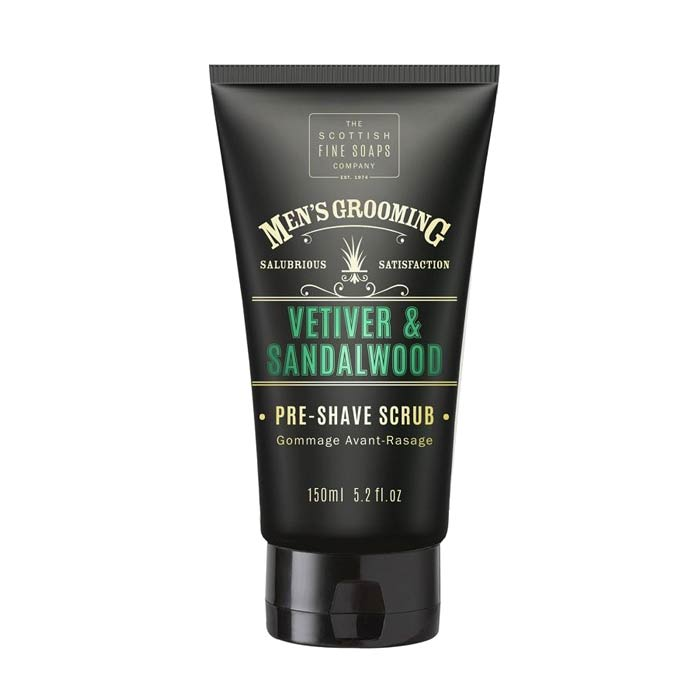 Scottish Fine Soaps Vetiver & Sandalwood Pre Shave Scrub 150ml