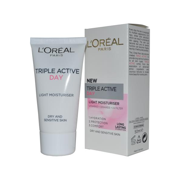 Triple Active Day Light Moisturiser 50ml Dry and Senstive Skin