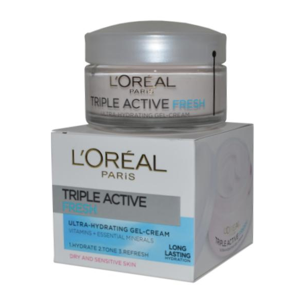 Triple Active Fresh Ultra Hydrating Gel Cream 50ml Dry and Sensitive Skin