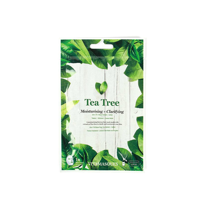 Vitamasques Tea Tree (Box of 4) Moisturising + Clarifying