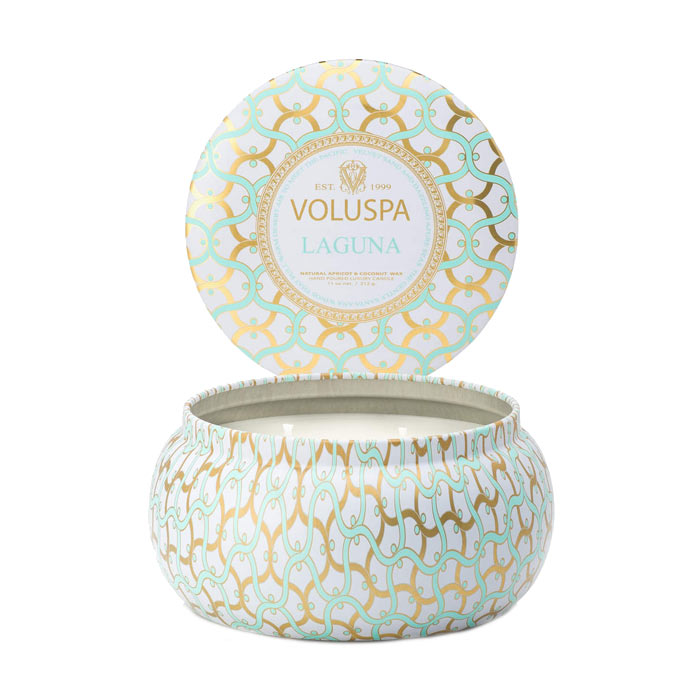 Voluspa 2-Wick Maison Metallo Candle Laguna 312g