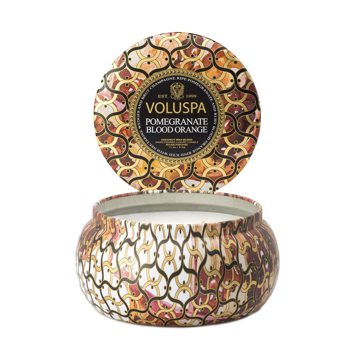 Voluspa 2-Wick Maison Metallo Candle Pomegranate Blood Orange 312g