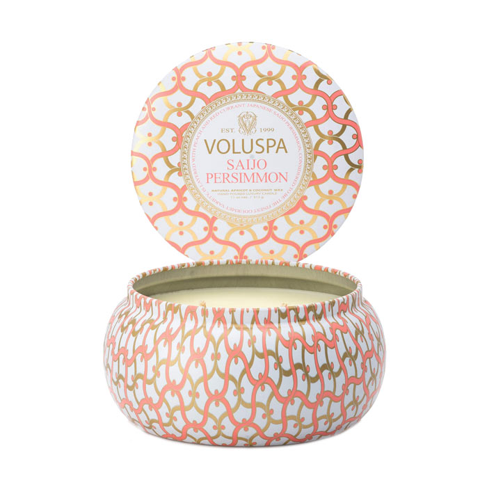 Voluspa 2-Wick Maison Metallo Candle Saijo Persimmon 312g