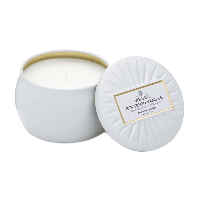 Voluspa Decorative Tin Candle Bourbon Vanille 127g