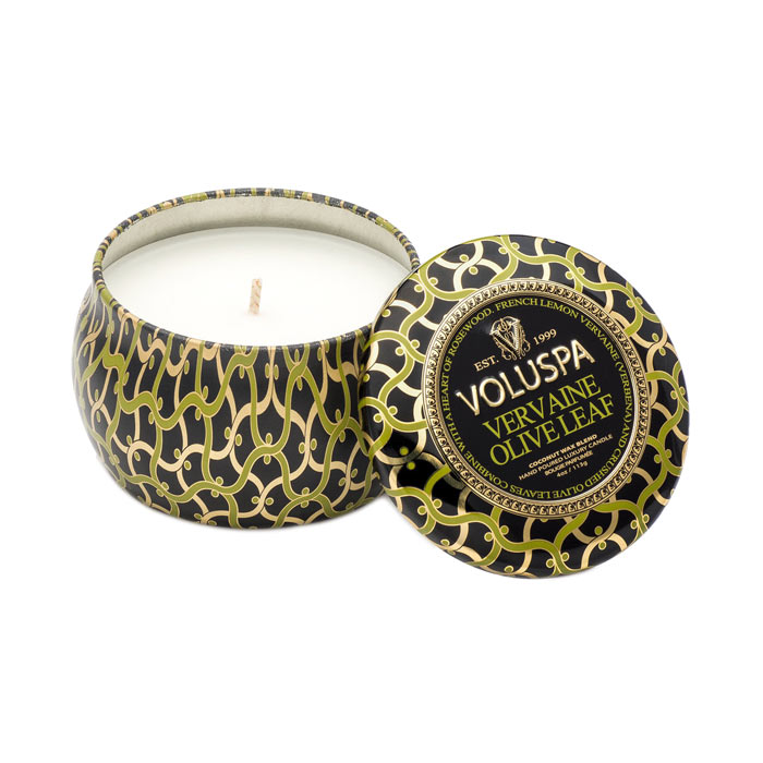 Voluspa Maison Decorative Tin Candle Vervaine Olive Leaf 113g