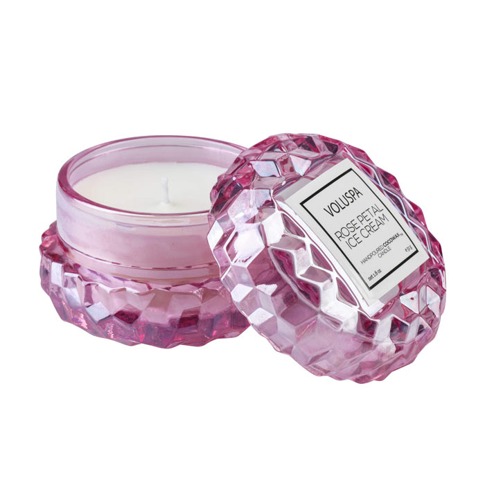 Voluspa Roses Macaron Candle Rose Petal Ice Cream 51g