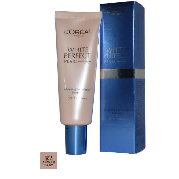 White Perfect Pearl Whitening Foundation Essence 30ml Apricot Ivory (R2)