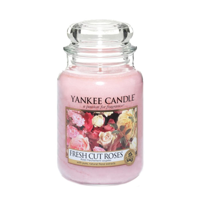 Yankee Candle Classic Large Jar Fresh Cut Roses Candle 623g