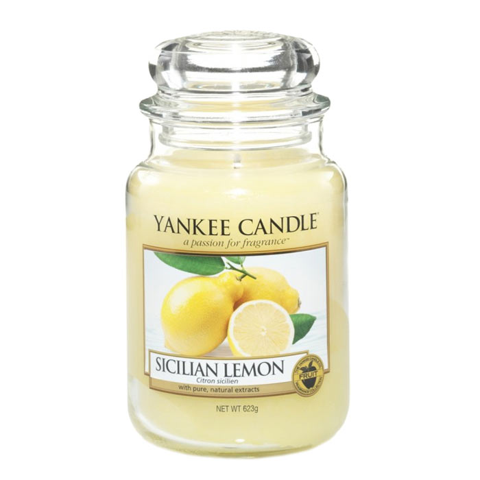Yankee Candle Classic Large Jar Sicilian Lemon Candle 623g