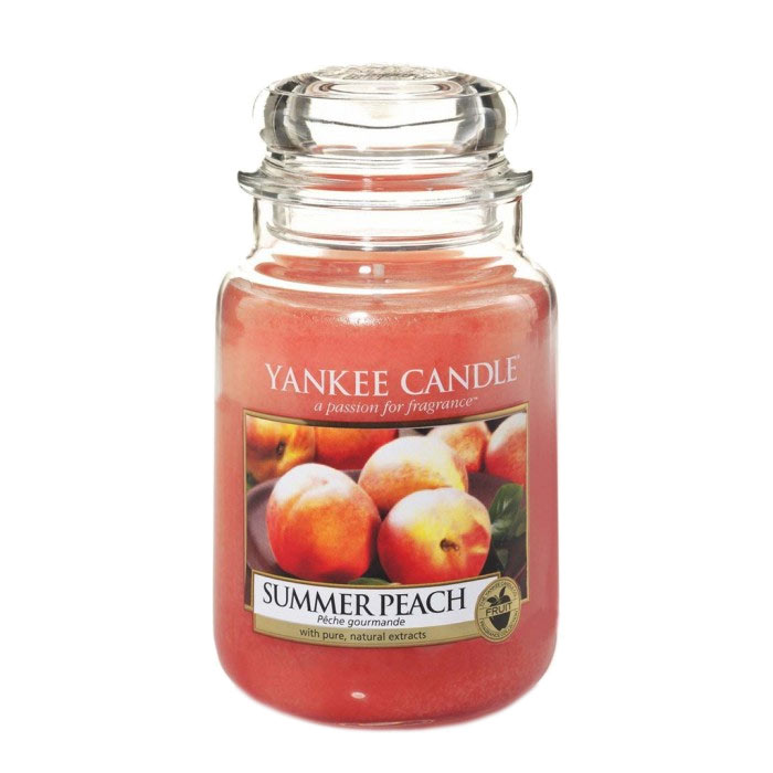 Yankee Candle Classic Large Jar Summer Peach Candle 623g