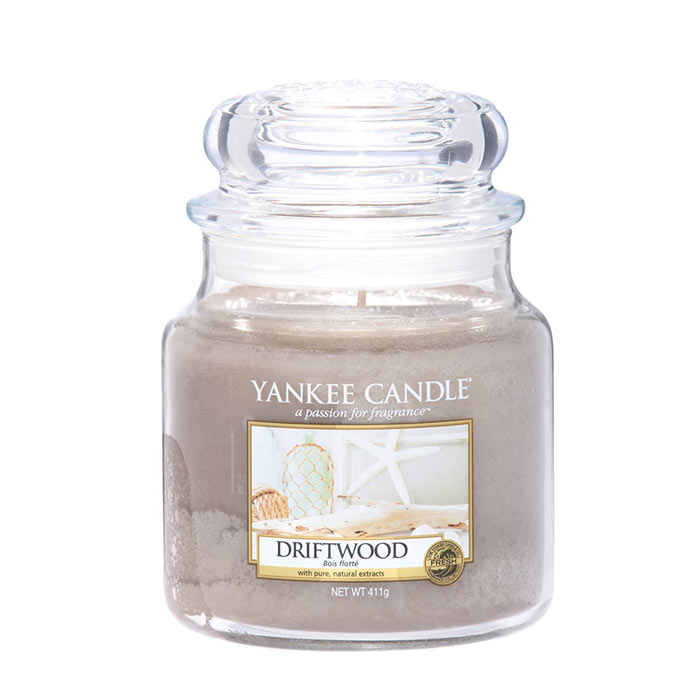 Yankee Candle Classic Medium Jar Driftwood Candle 411g