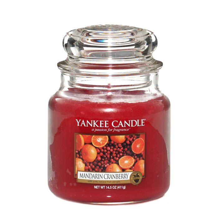 Yankee Candle Classic Medium Jar Mandarin Cranberry Candle 411g