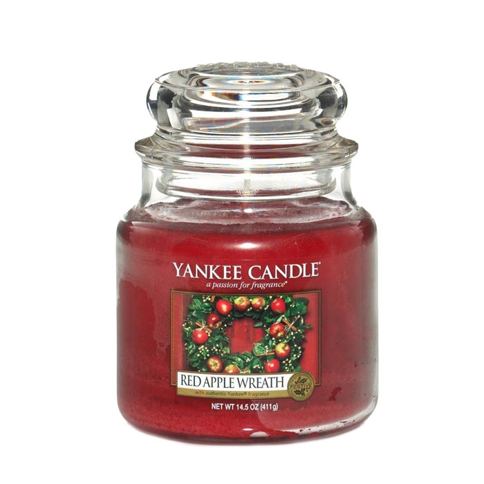 Yankee Candle Classic Medium Jar Red Apple Wreath 411g