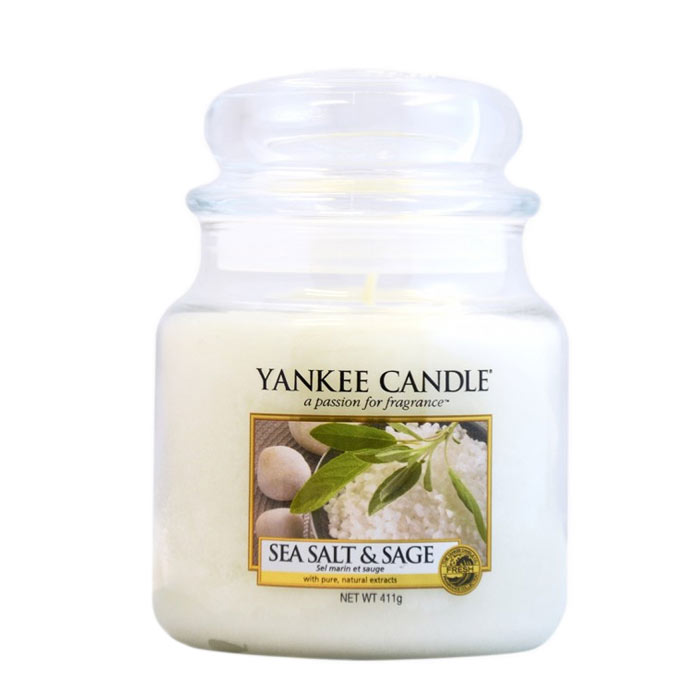 Yankee Candle Classic Medium Jar Sea Salt & Sage Candle 411g