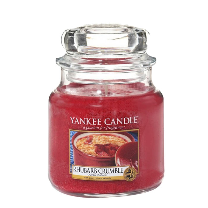 Yankee Candle Classic Small Jar Rhubarb Crumble Candle 104g